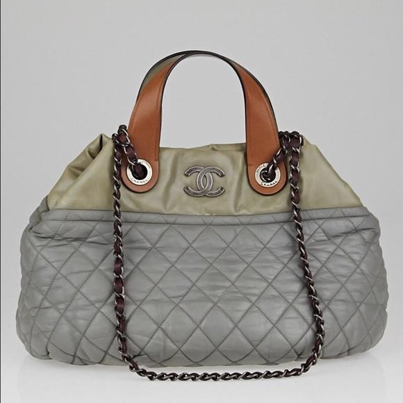 9938db7bdb6509 CHANEL Handbags - CHANEL Grey Small In-The-Mix Tote Bag