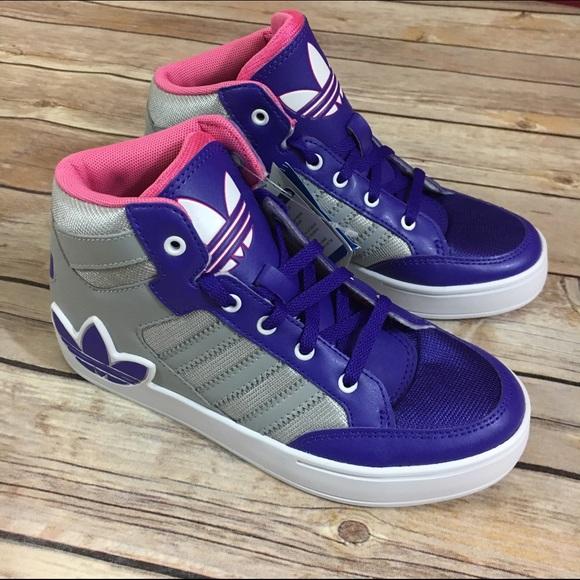 Adidas Hard Court Hi C Big Trefoil Logo Pink Gray 940c76eabb