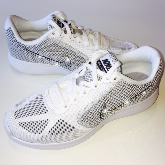 2a3094079de Bling Nike Revolution 3 Running Shoes w  Swarovski