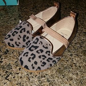 twinkie Other - Twinkie toddler Rose gold Leopard flats