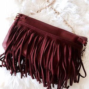 NWT DEUX LUX maroon purse