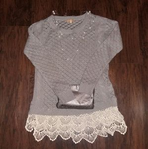 Takara Sweaters - Lace knit sweater