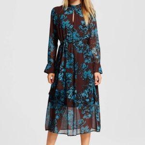 NWOT Who What Wear printed midi dress