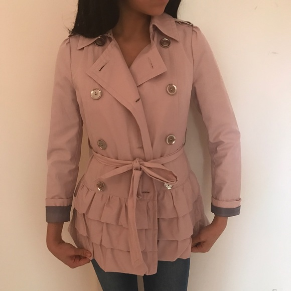 Express Jackets & Coats - Light Pink Trench