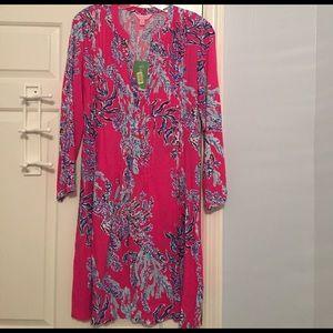 NWT Lilly Pulitzer Sarasota Tunic Pink Samba M.
