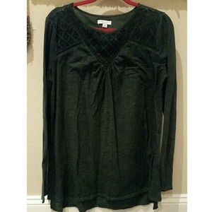 Liz Lange for Target Tops - Liz Lange Maternity dark green long sleeve, size M