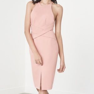 Lavish Alice  Dresses & Skirts - Blush pink wrap front midi dress