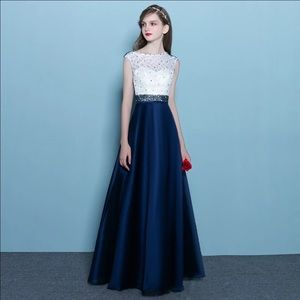 Dresses & Skirts - Dark Blue A-line Gown Size 4 Only wore it once