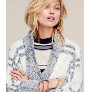 ISO: free people white windowpane sweater coat