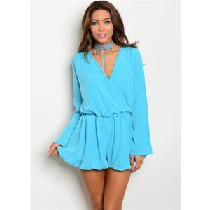 ASOS Pants - *SALE* New aqua ruffle romper