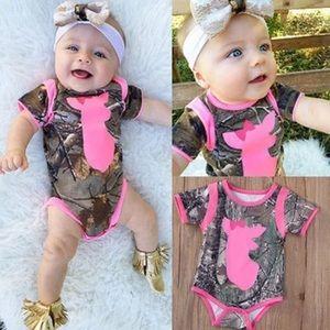 Other - Baby Girl Camo Print Deer Onesie