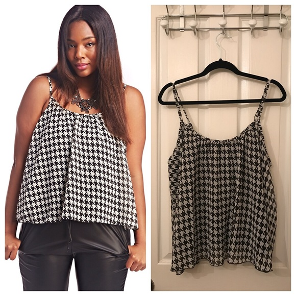 407d0cb516905 Plus Size Houndstooth Tank Top. NWT. Wet Seal