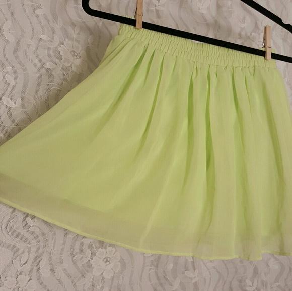Forever 21 Dresses & Skirts - Neon Green Forever 21 Skirt