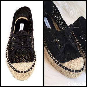 "Diane von Furstenberg Shoes - ""CROCHETED"" LACE-UP ESPADRILLES"