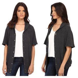 Michael Stars Jackets & Blazers - Michael Stars Madison Brushed Jersey Hooded Coat M
