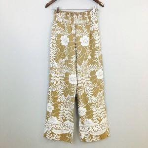 soft surroundings Pants - Soft Surroundings Cotton Stretch Waist Print Pants