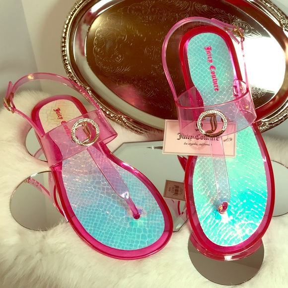 1db952a5f15a Juicy Couture Embellished Jelly Sandals