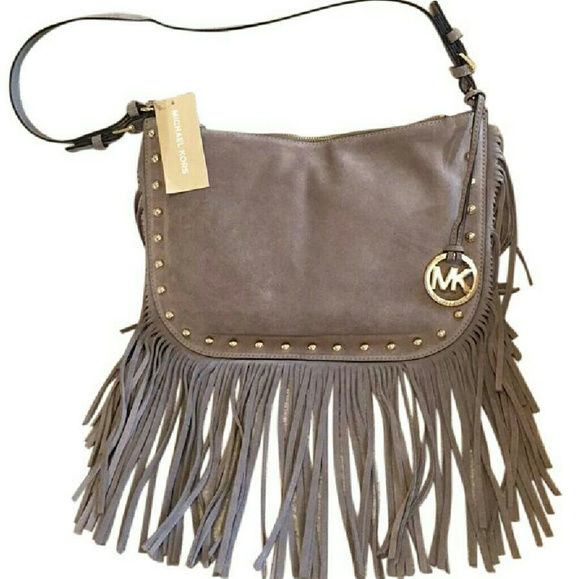 e79adbbdb9847f Michael Kors Bags | Authentic Mk Dakota Dark Taupe Leather Saddle ...