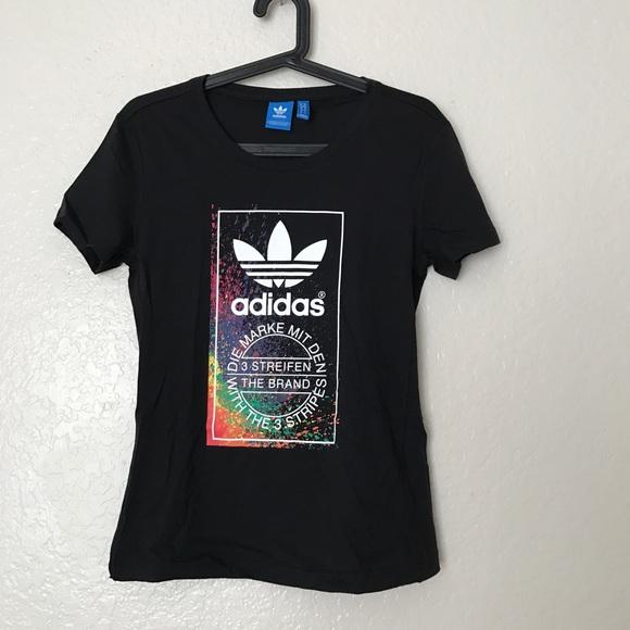45aa1d0028333 Adidas Tops - ADIDAS ORIGINALS LGBT LGBTQ PRIDE SHIRT SPLATTER