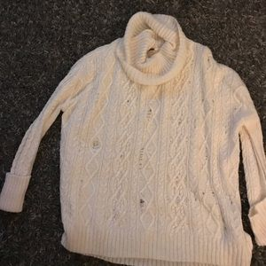 NWOT free people distressed knit top