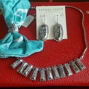 Kendra Scott Drusy set, ring size 6
