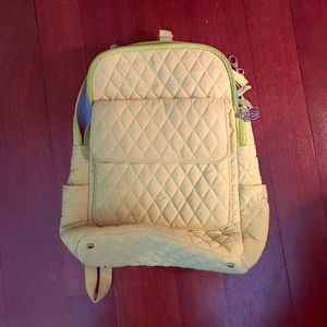 Vera Bradley live green quilted backpack