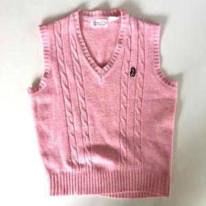 Vintage Hush Puppies Pink Sleeveless Sweater