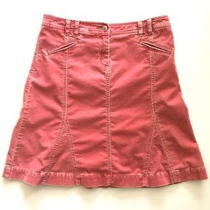 Anthropologie Louie Pink Corduroy Skirt // Size 6