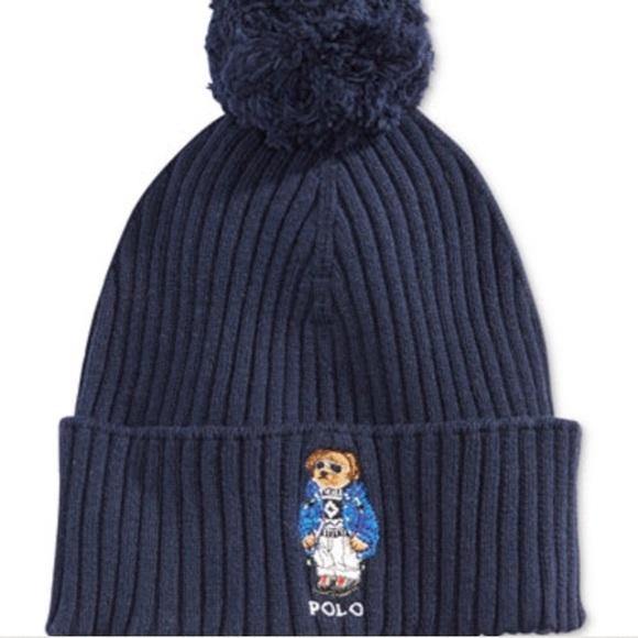 beeb3cc4 Polo by Ralph Lauren Accessories | Ralph Lauren Ski Bear Pom Pom Hat ...