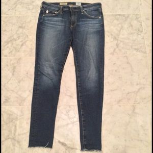 AG Adriano Goldschmied Denim - AG The Legging Ankle Jeans with raw hem