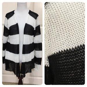360 Sweater Sweaters - 360 sweater linen chevron cardigan