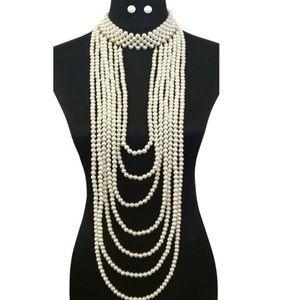 Beltshazzar Jewelry Jewelry - Sassy Classy Muti Layered Pearls
