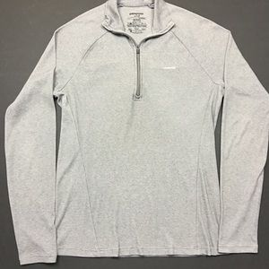Patagonia Sweaters - Patagonia Grey Zip Up Capitone Lightweight Sweater
