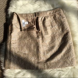 LOFT Skirts - Gorgeous LOFT Silver/Gold Tan Mini Skirt - SZ: 4P