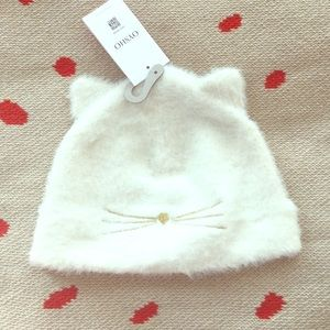 Oysho kitty furry beanie