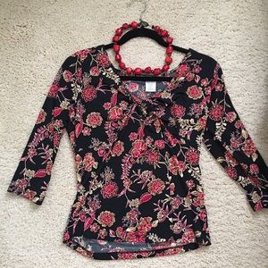 Tops - Stretch, comfortable Asian Flair top