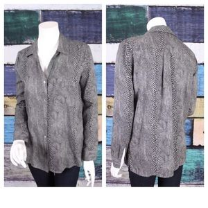 Three Dots Tops - Three Dots Anthropologie Gray Snakeskin Top XS