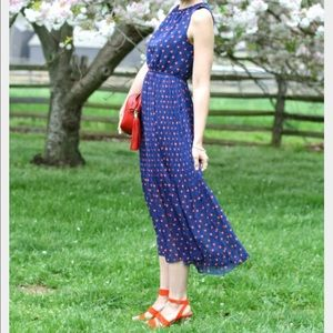Maison Jules heart printed midi dress