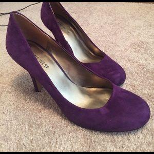 Nine West purple suede pumps size 7
