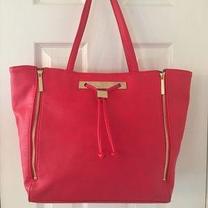 Olivia + Joy Handbags - 🛍 Olivia + Joy Large Pink Gold Tote Bag