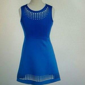 Zunie Other - ZUNIE LASER CUT A-LINE DRESS BIG GIRLS BLUE SZ 8