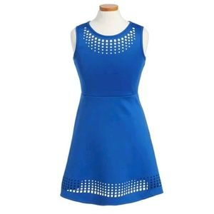 Zunie Other - ZUNIE LASER CUT A-LINE DRESS BIG GIRLS BLUE SZ 8