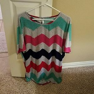 Auditions Tops - Large Chevron tunic top- very loose fitting