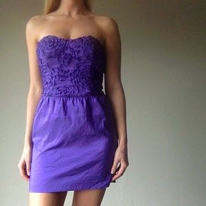 Arden B Dresses & Skirts - ONE DAY SALE! Purple strapless dress