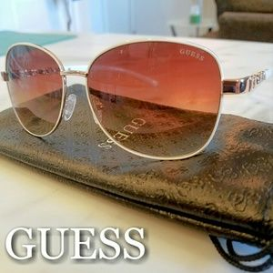 Guess Accessories - Guess Sunglasses White Frames W/Rose Gold Lenses