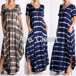 Dresses & Skirts - Maxi dress oversized tie dye ombré oversized