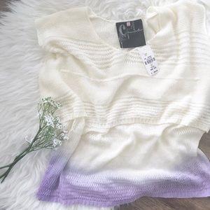 LF Stores Tops - nwt//LF stores chandelier hi-low knit ombré crop