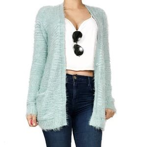 Anthropologie Sweaters - Anthropologie hinge fuzzy cardigan