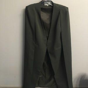 Green blazer cape