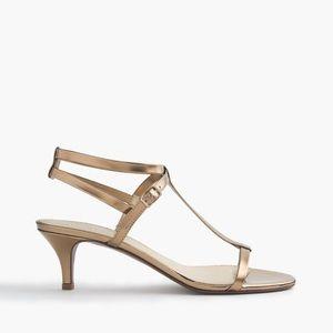 Sale J. Crew Greta Metallic Sandals Brocade Gold